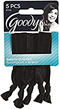 Goody WoMens Ouchless Ribbon Elastics, Solid Black, 5 Count
