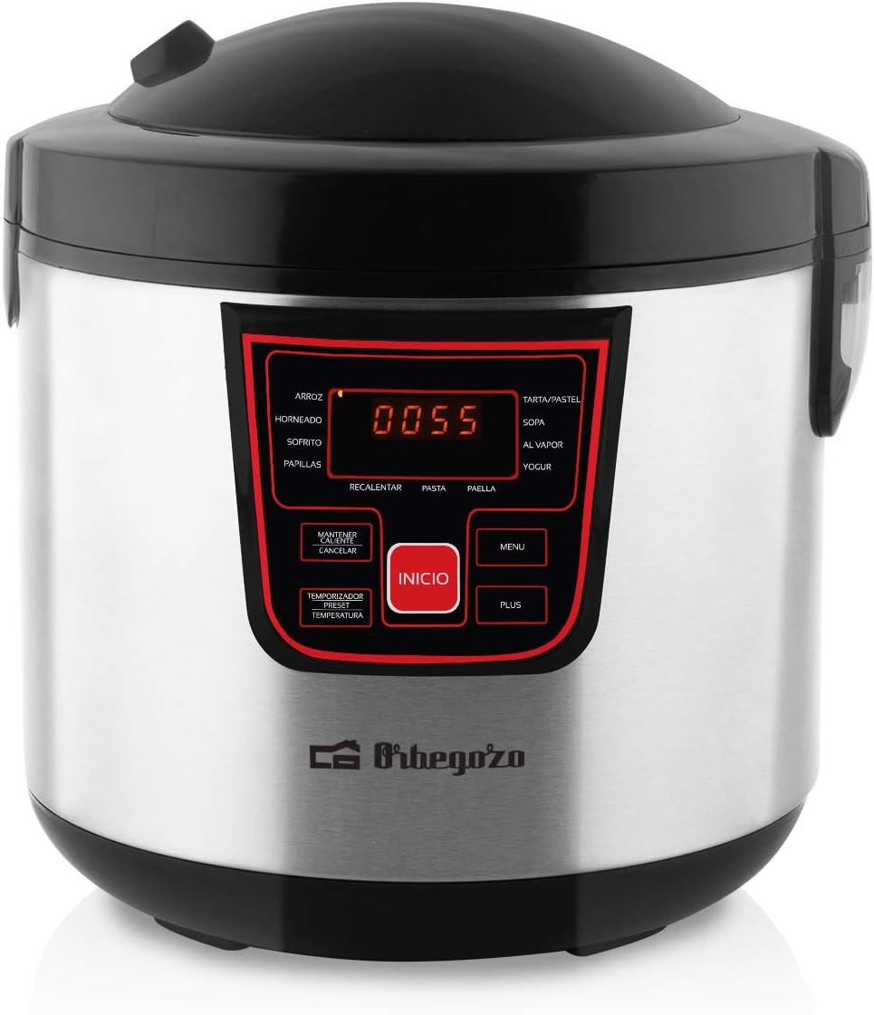 Orbegozo MCP 6000 - Máquina de cocinar programable, 11 programas, pantalla LCD, 5 L de capacidad, temporizador, recetario