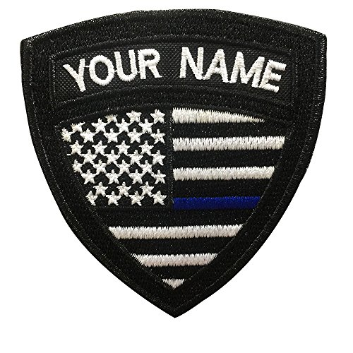Custom US Military Name Patch, Custom Embroidery Name Patches 2 PCS, Personalized Tactical Military Patches, Number Tag with Hook and Loop for Clothing Backpacks Caps Hats Jackets(2)