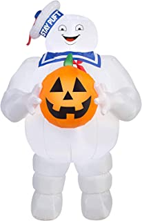 Halloween Inflatable Ghostbusters 5' Stay Puft Holding Pumpkin by Gemmy