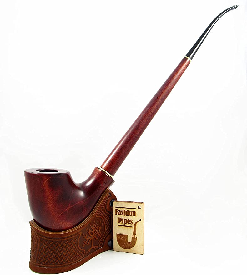 Cobra CHURCHWARDEN HAND CARVED Handmade Wooden Smoking Pipe For Direct Smoking