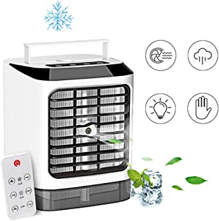 Portable Air Cooler, Mini Air Conditioner, 4 in 1 Personal Evaporative Cooler, Humidifier, Purifier with USB, 3 Speed Desk...