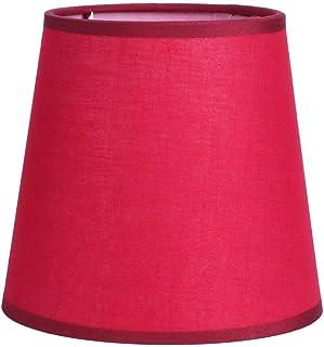 Gransun Pantalla de Tela E14 Pure Color Mini Table Lamp Cover Shade Chandelier Pantalla para lámpara de Pared Mesita de Noche (110x150x140mm)(Rojo)