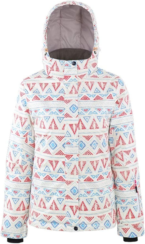 ZAGO Frauen wasserdichte Ski-Jacke Damen Skijacke Schnee- Warm Damen Jacke Ski Kleidung im Winter wasserdichte warmen Winter Gefütterte Jacke Winter Snowboard Anzug Schnee-