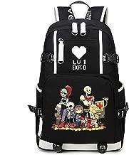 Gumstyle Undertale Game School Bag Backpack Shoulder Laptop Bags for Boys Girls Students Black 19