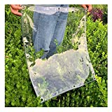 Lonas claras Tarpaulin impermeable a prueba de agua, 360 g / m² Tarpa de lona transparente, cubierta de planta, PVC perforado impermeable y paño a prueba de viento, adecuado para el deber, balcón, al