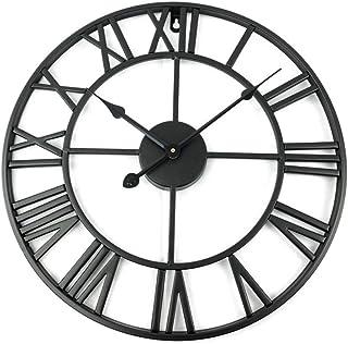 アイアンフレーム 壁掛け時計 ブラック アンティーク 雑貨 アンティークデザイン アメリカンクロック ウォールクロック お祝い プレゼント お洒落 オシャレ インテリア 掛け時計 北欧 装飾