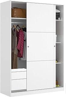 HABITMOBEL Armario de Dormitorio organización 2 Puertas correderas 120 con Fondo reducido de 50 cm (CAJONERA INCLUIDA)
