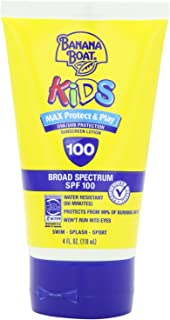 Banana Boat, Kids Sunblock Lotion Spf100 Size, Unscented, 4 Ounce