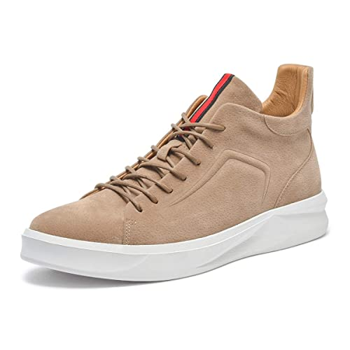 09e342599be Artisure Men s Classic Genuine Leather High-Top Casual Sneakers Fashion  Ankle Boots