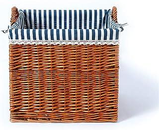 Panier de stockage Wicker Panier de rangement avec des vêtements de stockage ou doublure Shelf Organisateur enfants Jouet ...