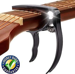 Guitar Capo, Premium Zinc Metal Capo For Acoustic Guitar and Electric Guitar, Banjo,Mandolin, Ukulele Capo, Black