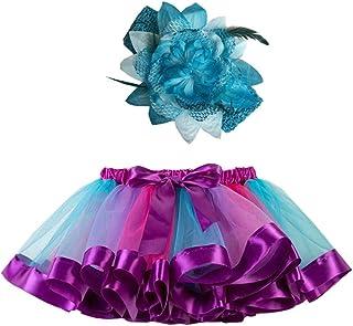 SHOBDW mujer, Falda del Tutu para Niña,SHOBDW Niños Regalo De Cumpleaños Fiesta De Tutú Baile Ballet Falda Bebé Niño Pequeño Fiesta De Disfraces Falda de Baile + Diadema Conjunto 2PCS