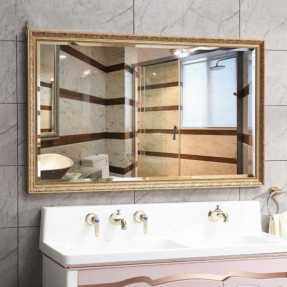 粘液立法ミュウミュウ黄金の長方形のバスルームミラー、ヨーロッパの豪華な壁の鏡、ホテルビューティーサロンヨガジムバニティミラー化粧鏡、家の装飾ミラー