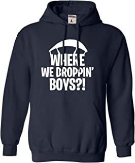 Go All Out Adult and Youth Where We Droppin' Boys Sweatshirt Hoodie