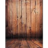 OULII Pavimento in legno Fotografia fondali foto sfondo Studio di puntelli (colore rosso d...