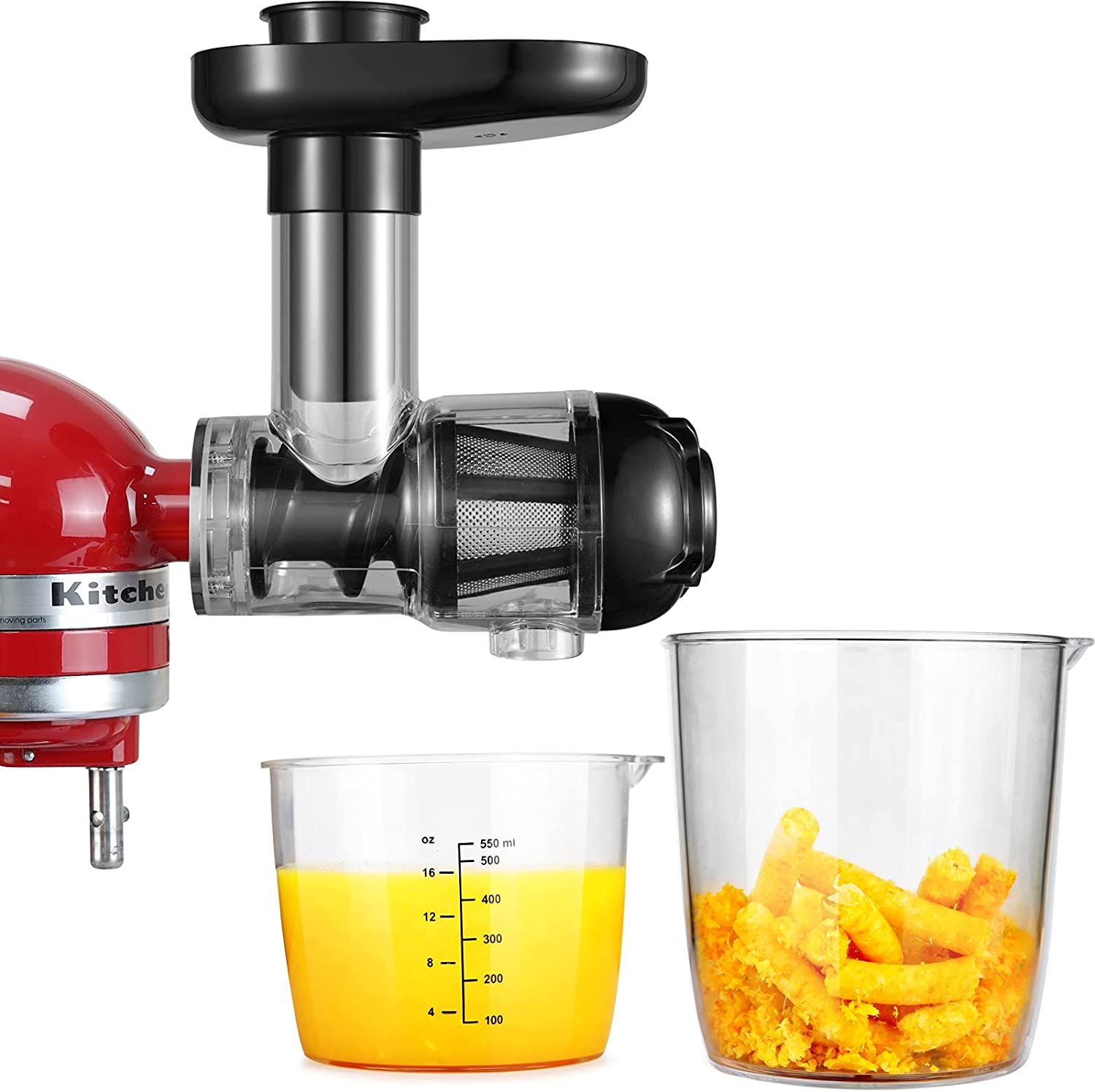 Masticating Juicer Accessories, Gdrtwwh Juicer Machines Attachments Compatible with KitchenAid 3.5/4.5/5 Quart Tilt Head Stand Mixers and Cuisinart SM-50BC/SM-50R/SM-50TQ/SM-50BL/SM-50BK Stand Mixers