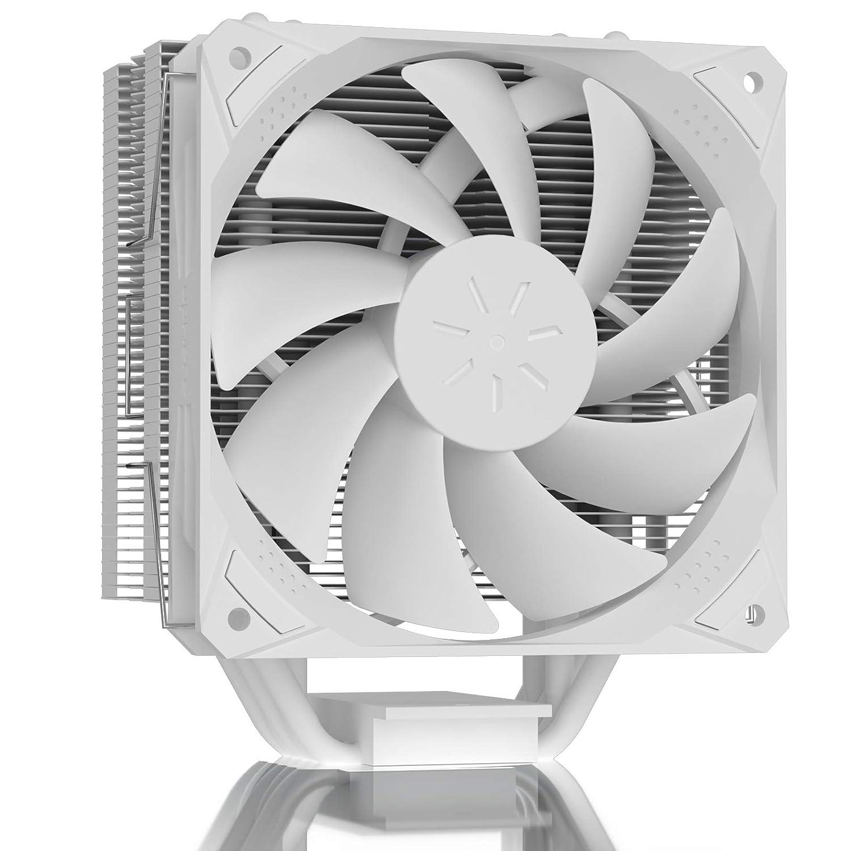 upHere 5 Heatpipes PWM - Ventilador de CPU para Intel & AMD, 120 mm, PWM, refrigeración para CPU Intel & AMD, color blanco LGA 1151 1150 1156 1200 AM4