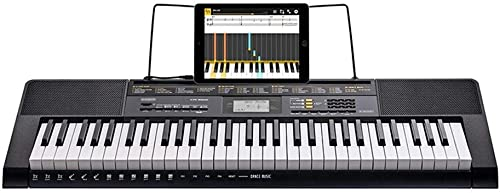LINGLING-Tastatur Keyboard Intelligente APP Unterrichtende Musikinstrumente Für Erwachsene Erwachsene Anf er, Die Klavier Sortieren (Farbe   Schwarz