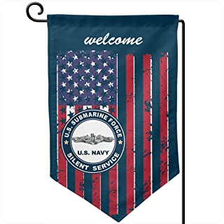 Garden Flag 12.5-18in Size Banner for House Decoration- US Submarine Force Silent Service Flag
