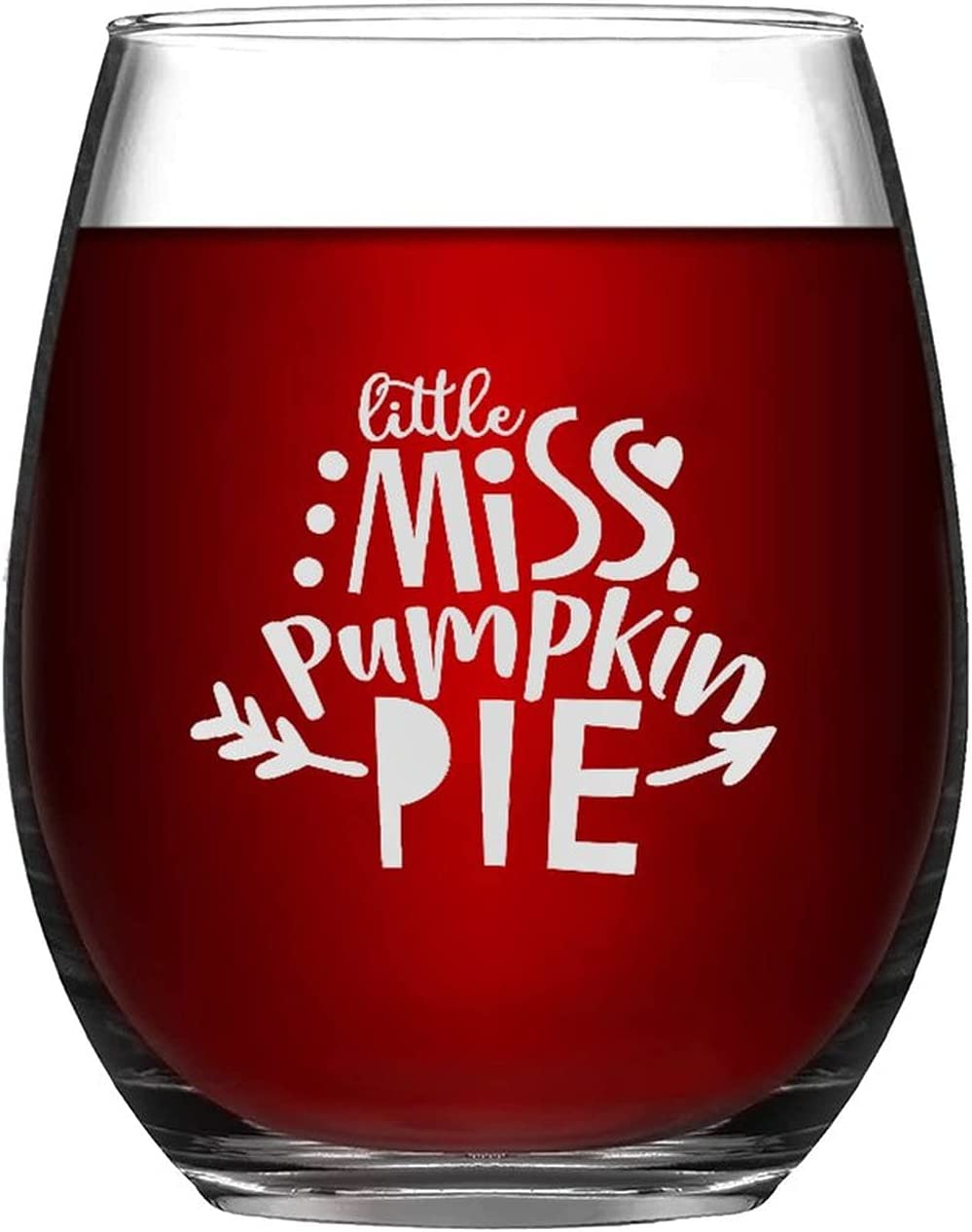 Stemless Wine Glass Minneapolis Mall Manufacturer direct delivery Little Miss Thank Glasses Pie Pumpkin Autumn