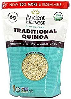 Ancient Harvest Organic Quinoa, Traditional, 12 oz. Bag, Essential Gluten-Free Whole Grain Quinoa Packed with Protein, An ...