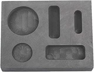 Femitu Graphite Ingot Molds for Casting 1/4 1/2 1 OZ Refining Scrap Bar Coin Combo Mould for Gold Silver Metal