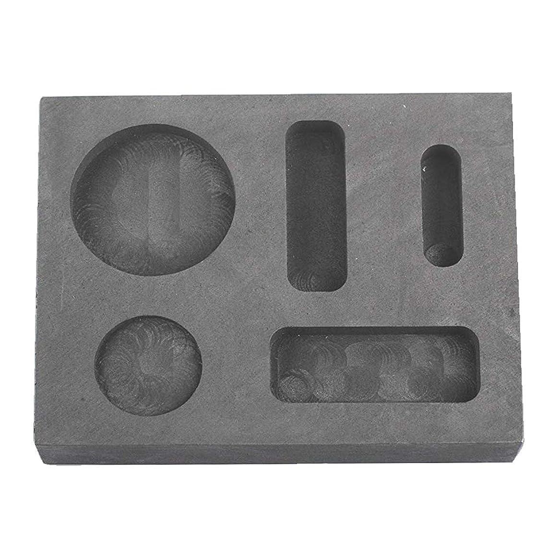 Femitu Graphite Ingot Molds for Casting 1/4 1/2 1 OZ Refining Scrap Bar Coin Combo Mould for Gold Silver Metal