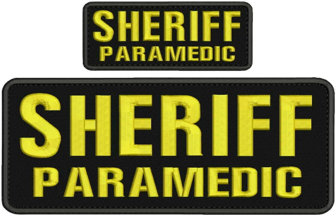Sheriff Max 90% OFF Paramedic Bargain sale Embroidery Patch 4x10 2x5 Yellow Hook and