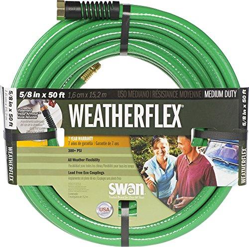 Sciée Weatherflex Medium Duty Tuyau d'arrosage 5/8-Inch by 50-Feet