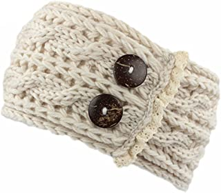 Women Winter Warm Crochet Knitted Braided Knit Wool Hat Cap Headband Hair Band