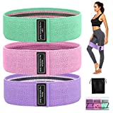 GESPERT Fitness Bands Resistance Bands Set 3 Strength Training Hip Band Set Non-Slip Elastic Physioterapeapy, for Home, Gym, Yoga, Pilates