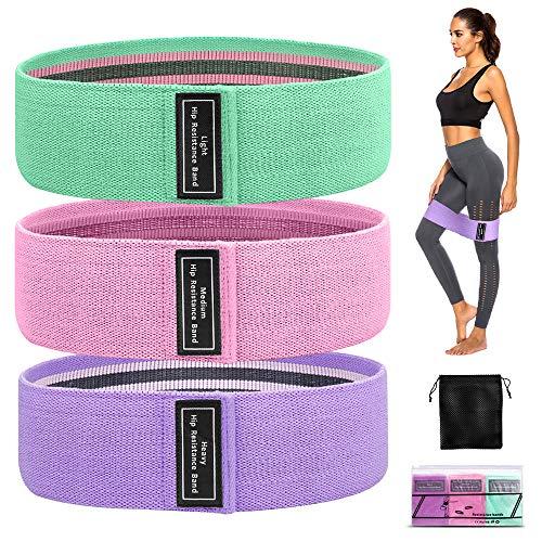 GESPERT Fitnessbänder [3er Set] Widerstandsband Gymnastikband Expander Set Krafttrainingsband Trainingsband für Hüfte, Arm, Bein usw.