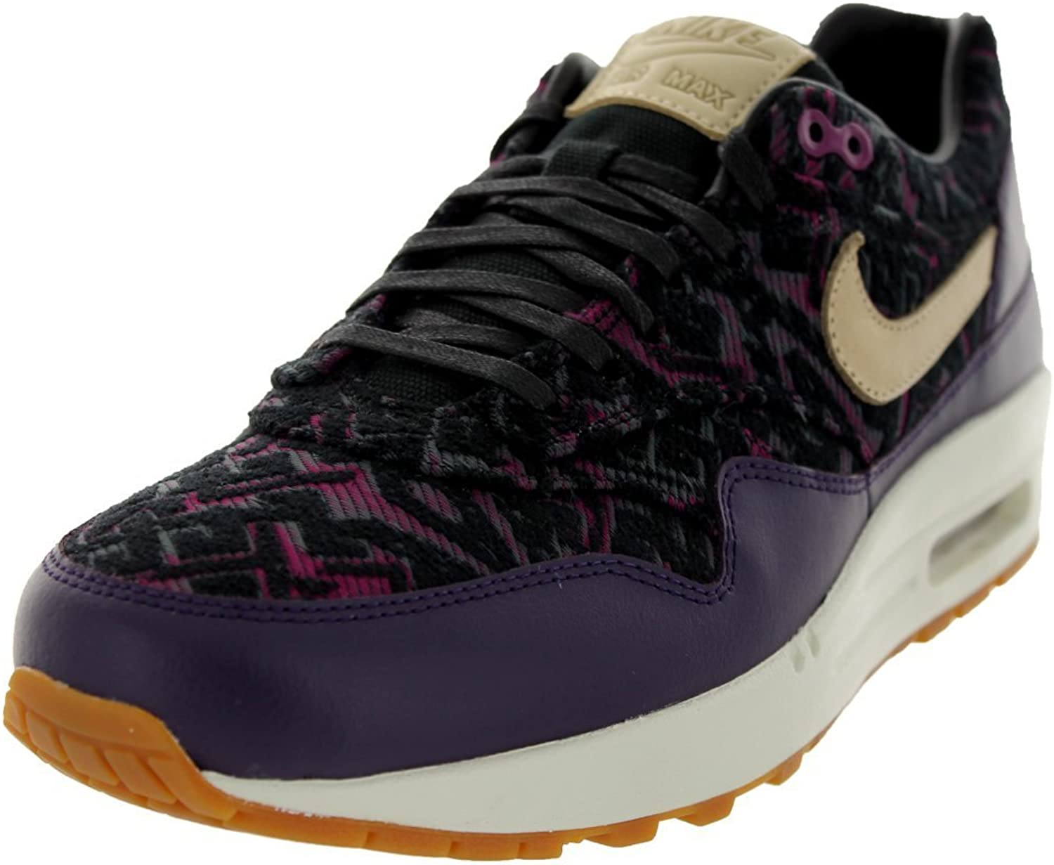 Nike Women's - Air Max 1 Premum - Purple Dynasty Black Raspberry Red