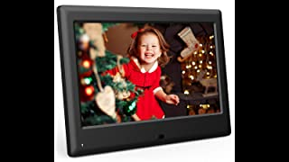DBPOWER HD Digital Photo Frame IPS LCD Screen with Auto-Rotate/Calendar/Clock Function & Remote Control (7 inch)