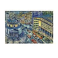 HiYash 市の装飾車での騒々しい都市交通バス敷物滑り止め玄関床玄関屋外屋内フロントドアマットキッズバスマット15.7x23.6inバスルームアクセサリー