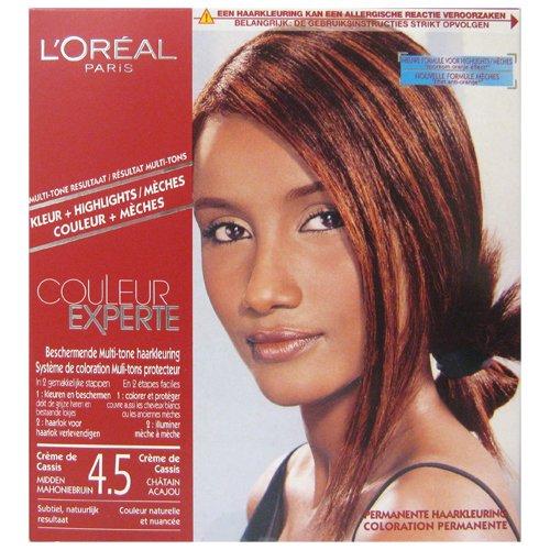 L'Oréal Color Expert Haarfarbe, mehrere Farbtöne Cassis Kastanienbraun Mahagoni – Farbe 4.5