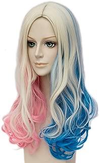 Topcosplay Women's Wig Curly Halloween Costume Cosplay Wig Blonde Mixed Blue Pink Gradient