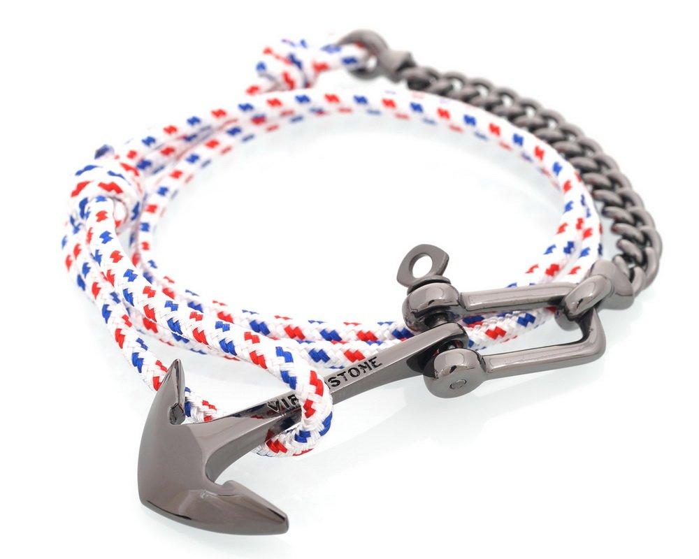 英国VIRGINSTONE U型锁扣船锚手链
