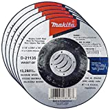 """Makita 5 Pack - 4.5"""" Cut Off Wheels For Grinders - Flush Cutting For Stainless Steel & Metal - 4-1/2"""" x .045 x 7/8-Inch"""
