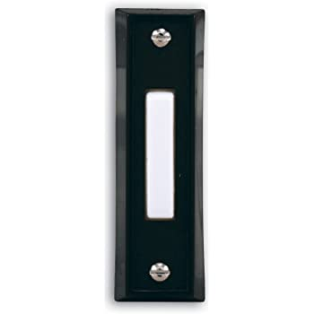 1 Each IQ America Wired Black Plastic Lighted Doorbell Push-Button DP-1102A