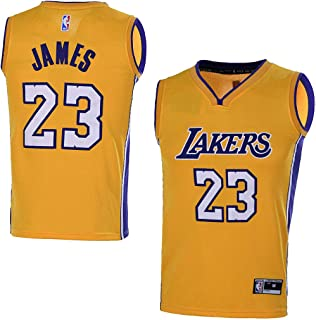 b534aab3f367 OuterStuff Youth Los Angeles Lakers #23 LeBron James Kids Gold Jersey