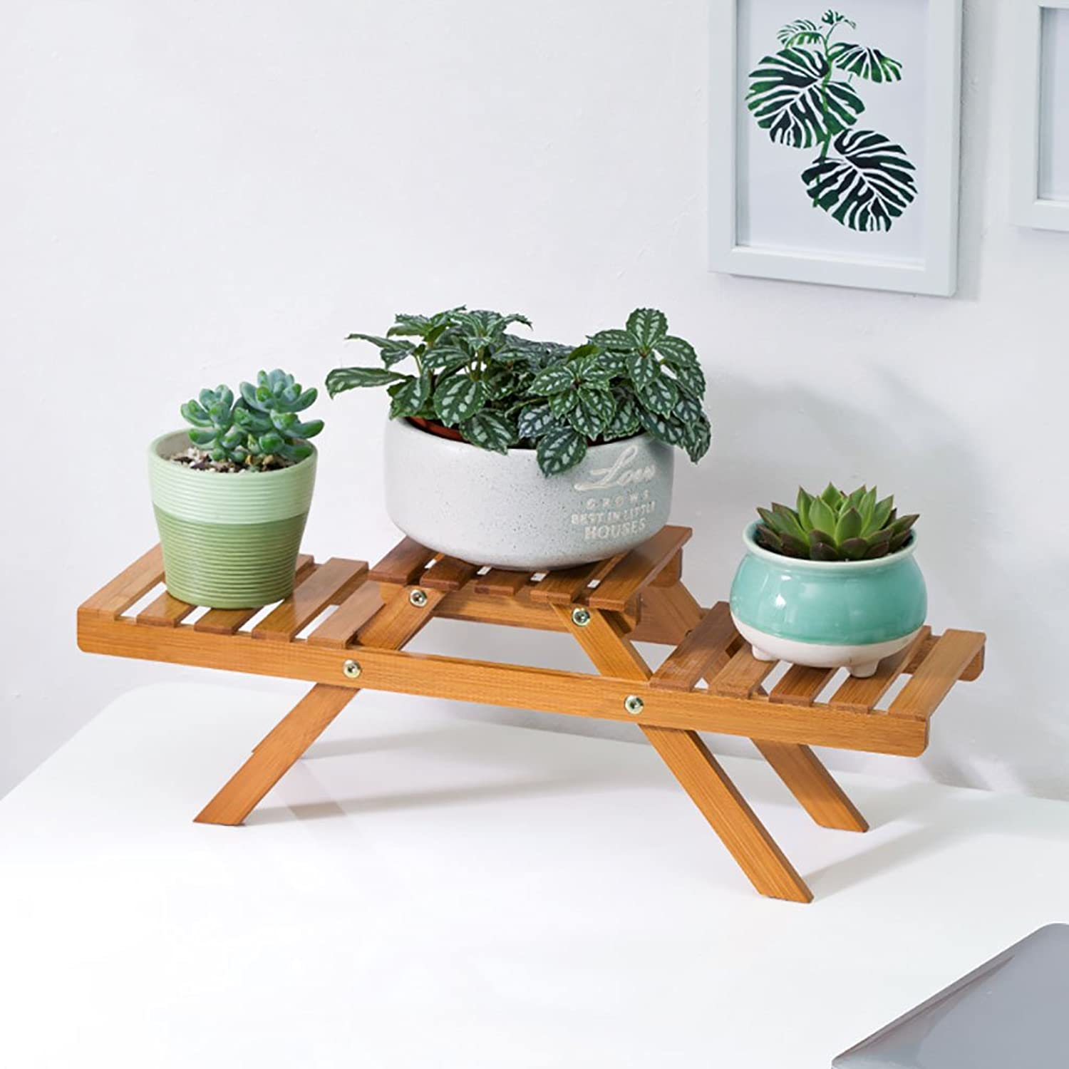 Solid Wood Flower Racks Creative Platform Office Decoration Flower Stand Decoration Racks Plant Shelves Solid Wood Flower Racks