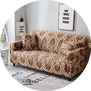 Slipcover Non-Slip Elastic Sofa Covers Polyester Four Season All-Inclusive Stretch Sofa Cushion Sofa Towel 1/2/3/4-Seater,Color 19,Single Seat 90-140Cm