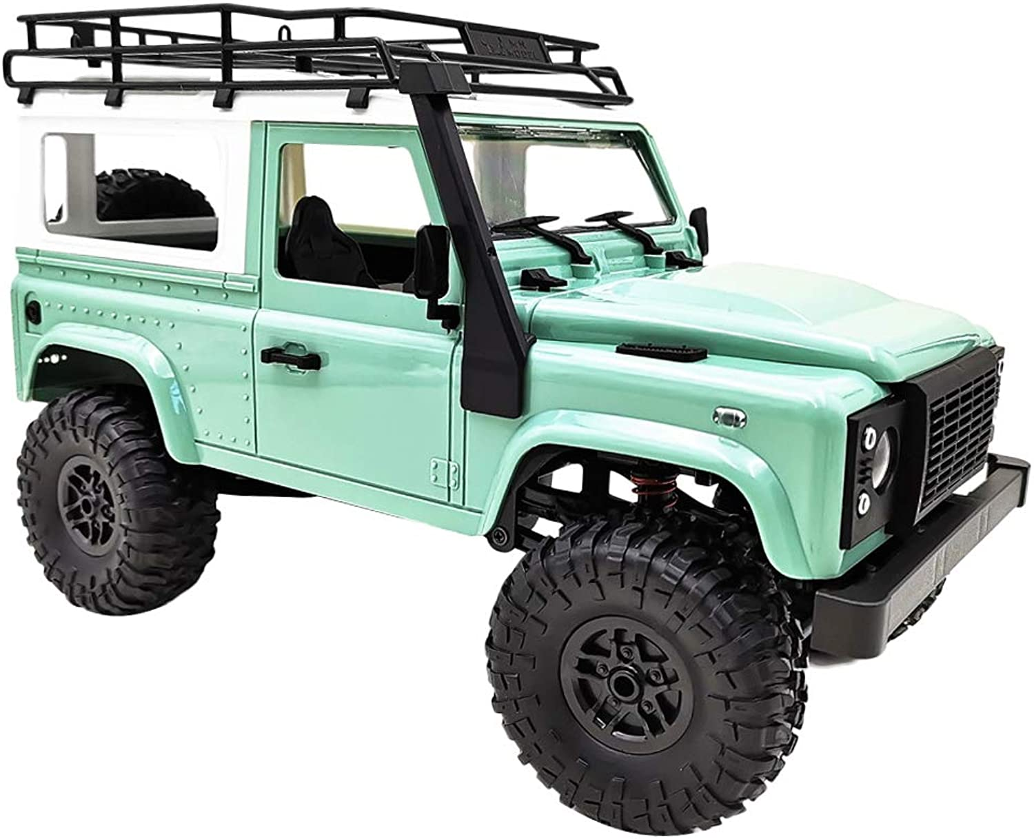 Fityle RC Model Car to Build Kits 1 12 Scale RC Crawler 4WD High Speed Pickup Toys Green