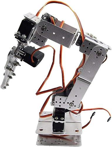 Ersatz für Arduino-Silber ROT2U 6DOF Aluminium Roboterarm Clamp Einhakmontage Kit w Servos Censhaorme