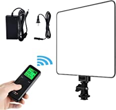 VILTROX VL-200T Portable LED Video Light, Ultra-Thin Dimmable Studio Photography Lighting Panel with Hot Shoe Adapter/Remote Controller/AC Adapter for Video Shooting,Interview,Portrait,YouTube.