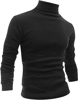 uxcell Men's Turtleneck Top Slim Fit Long Sleeve Pullover Turtle Neck Shirt