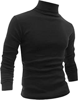 uxcell Men Slim Fit Lightweight Long Sleeve Pullover Top Turtleneck T-Shirt