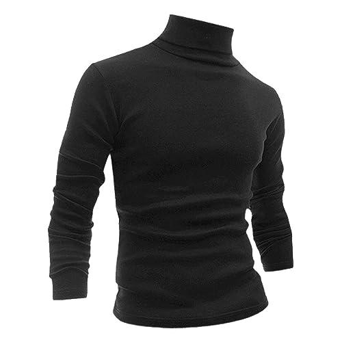 XXL S Black Rock Men/'s Jumper Slim Fit Knit Top Long Sleeve Black//White Sizes